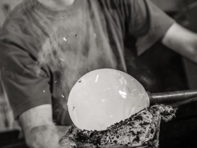 Nicolas Pinquier, souffleur de verre à Poncé-sur-Loir
